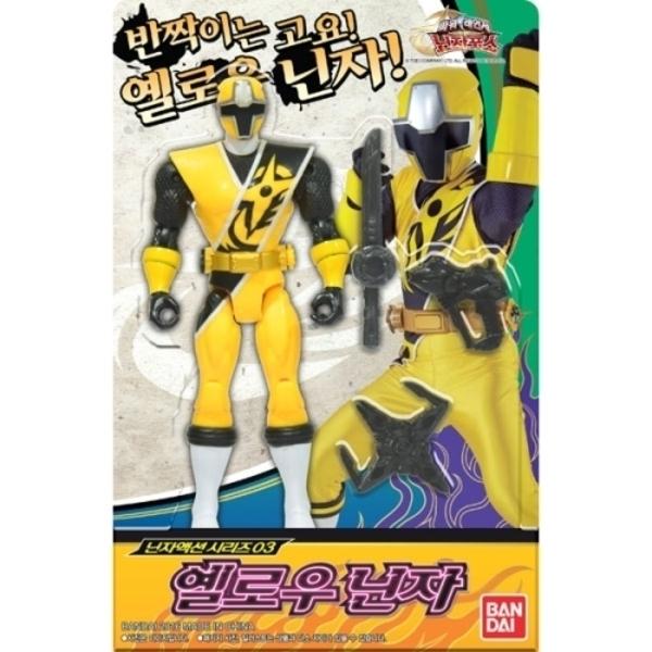 액션 피규어 옐로우 닌자/파워레인저 닌자포스 장난감
